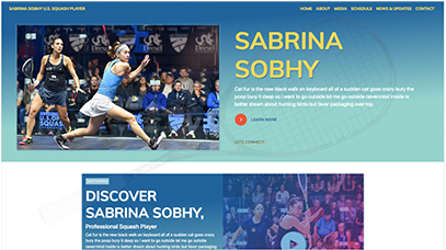 Sabrina Sobhy Website Design