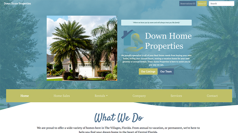 Web Design for The Villages Real Estate Company