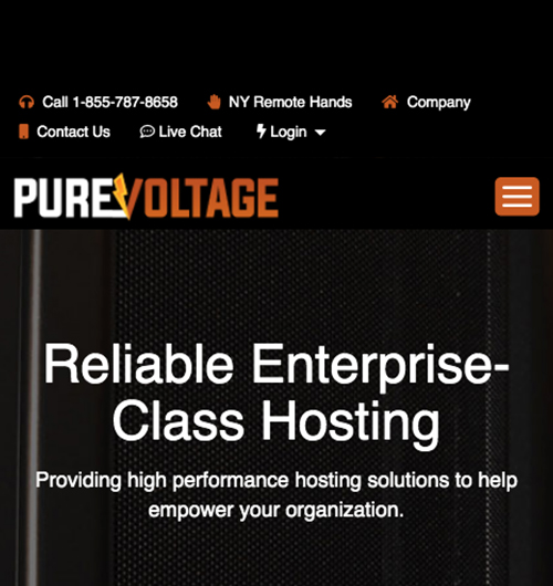 PureVoltage Mobile Website Design